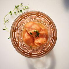 Peach Thyme Sorbet