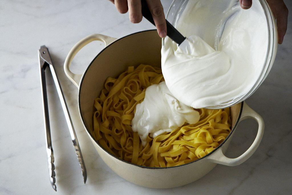 Diane Kochilas' Pasta with Yogurt and Caramelized Onions on Food52