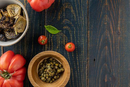Tomato and Polenta Summer Salad