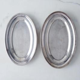 Vintage French Hotel Silver Platter