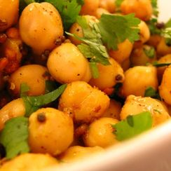 Schezuan pepper spiced South Indian 'sundal'