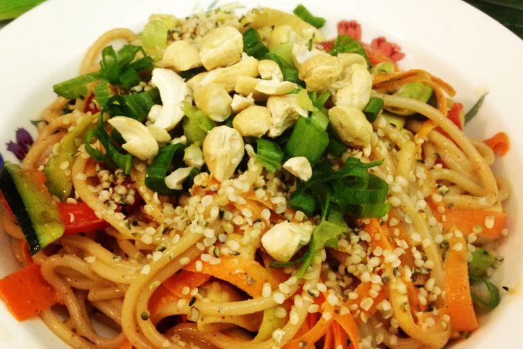Almond Butter Sesame Noodle Salad