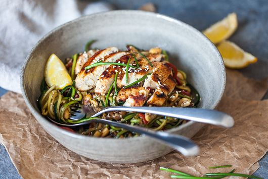 Low-Carb Chicken Zucchini Noodles
