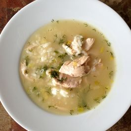 Chicken Lemon Rice Soup