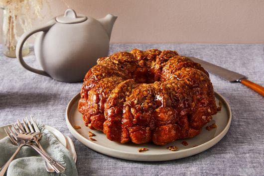 Toasted Oat Caramel Monkey Bread (Vegan)