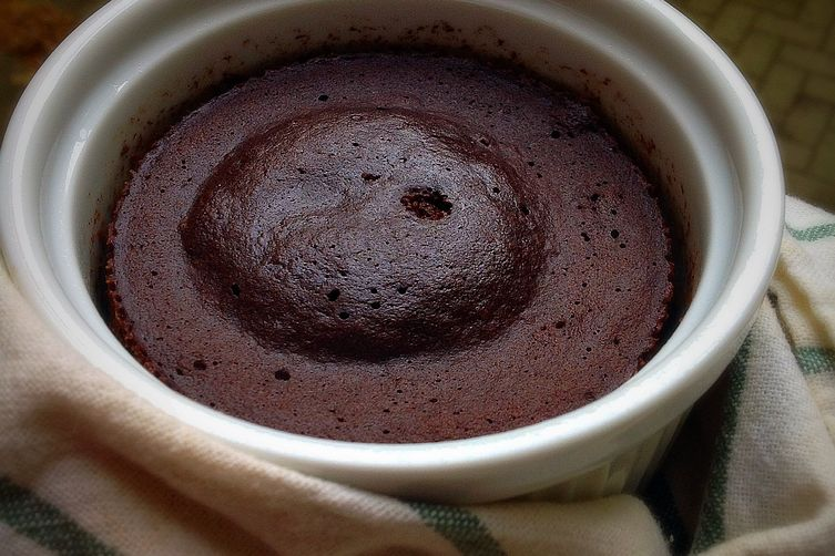 Sugar-free Chocolate Ramekin Cake
