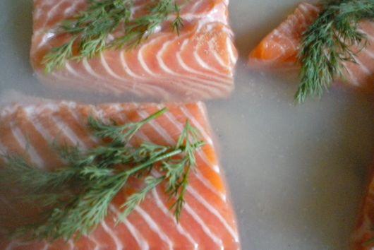 Oven Poached Salmon Fettuccine