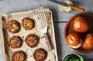 Dinner Tonight: Sun-Dried Tomato, Basil, and White Bean Burgers