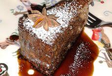 Walnut Sponge Cake with Spiced Coffee Syrup (*gluten free option)