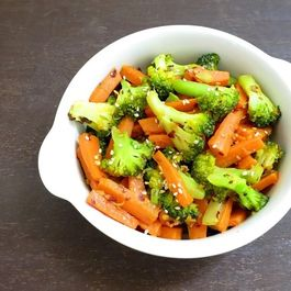 Broccoli and carrot stir fry