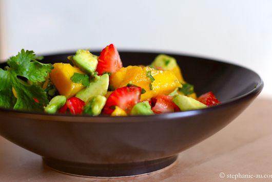 Avocado, Strawberry, and Mango Salad