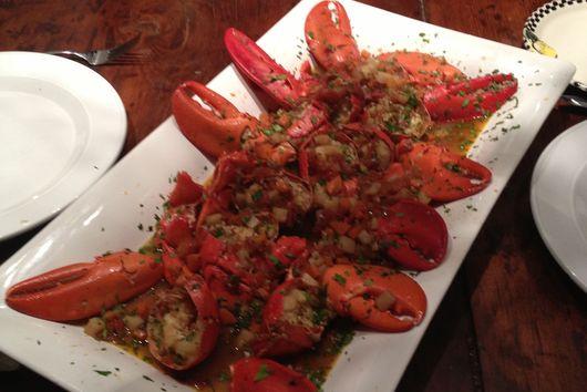 Lobster Sautéed in Cognac Sauce
