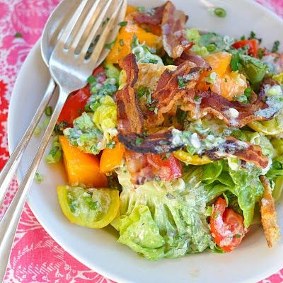 Bella's Deconstructed BLT Salad with Crème Fraiche and Herb Dressing