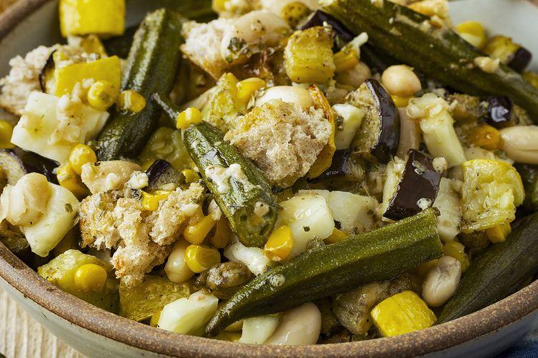 Roasted Summer Veggie Panzanella