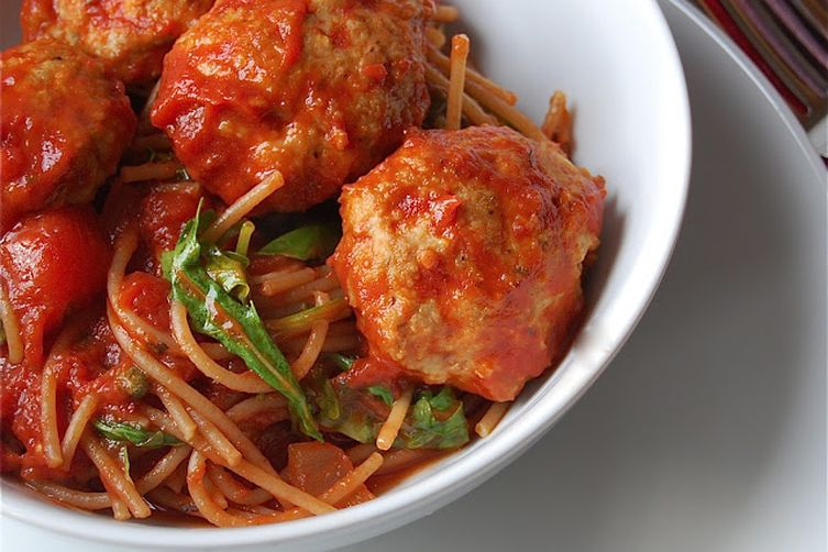 Spaghetti and Turkey Meatballs Recipe on Food52