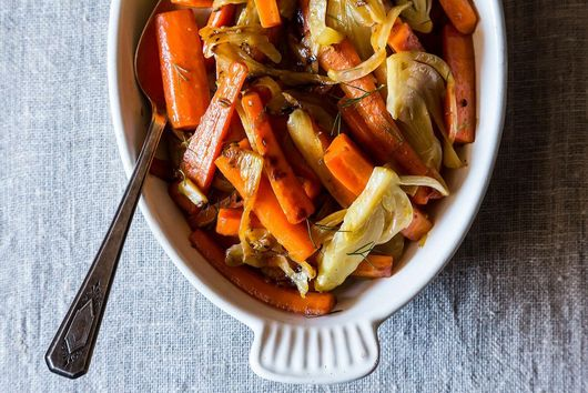 Carrots and Fennel Braised with Orange Zest and Honey