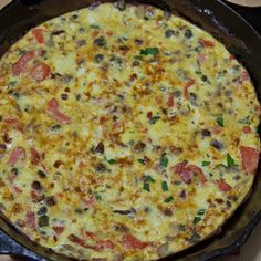 Smoked Salmon Red Onion and Feta Cheese Fritatta