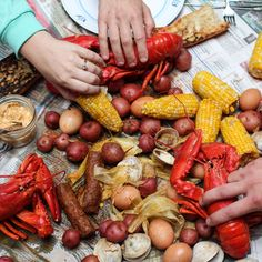 Maine Lobster Bake with Old Bay Compound Butter