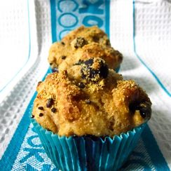 Supercharged Healthy Blueberry Muffin