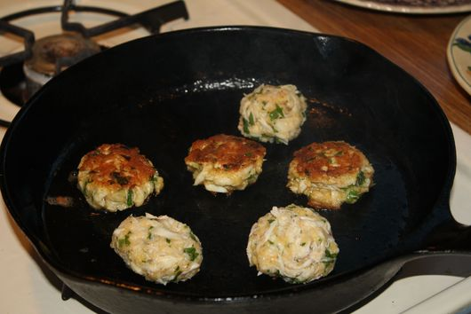 Green Onion and Mustard Crab Cakes