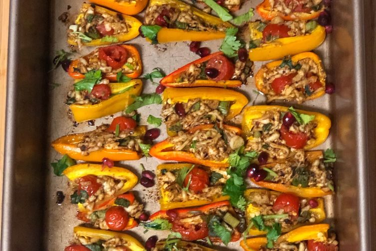 Spicy, spectacular stuffed peppers