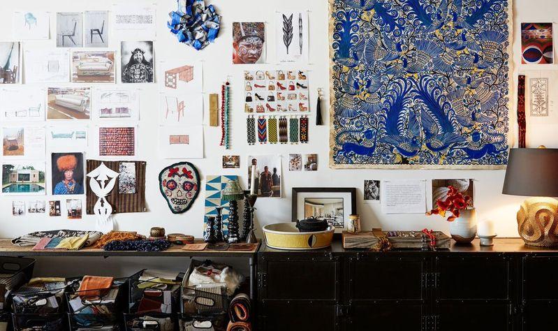 Laura Kirar's inspiration wall