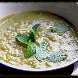 Creamy Pea Soup with Fresh Mint