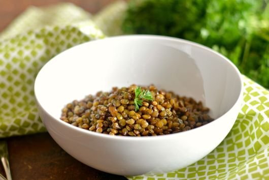 Skillet Popped Lentils With Parsley