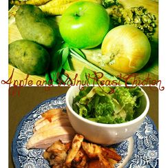 Apple and Walnut Roast Chicken