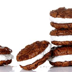 Mexican Chocolate Cookies with Marshmallow Frostin
