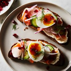 Pomegranate + Lox Toast