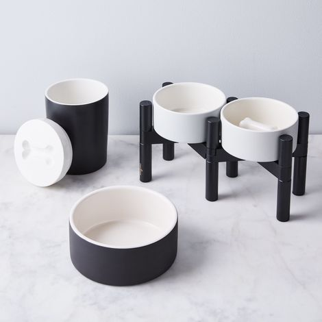 Elevated Slow Feeder Dog Bowl and Stand
