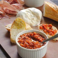 Grilled Red Pepper Dip w/ Burrata