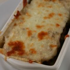 White Lasagna with Sausage and Mushrooms