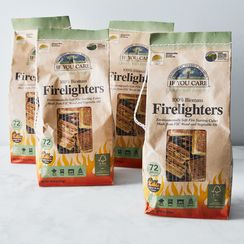 Non-GMO Vegetable Oil Firelighters (Set of 4)