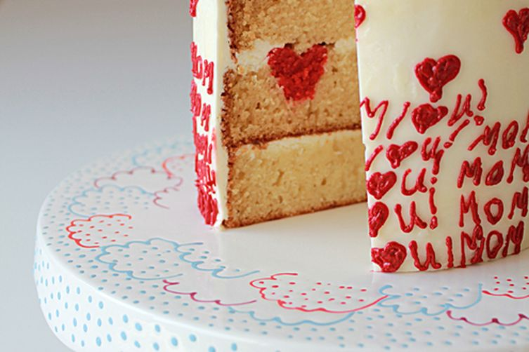 MOM I HEART YOU! Surprise-Inside Cake
