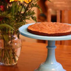 Chocolate Madeleine Cake with Coffee-Caramel Sauce