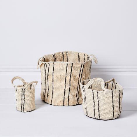 Handwoven Artisan Nesting Baskets