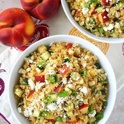 Chipotle-Peach Quinoa Salad