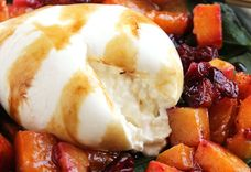 Roasted Butternut Squash, Cranberry and Burrata Salad