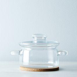 Borosilicate Pot with Cork Trivet and Storage Lid