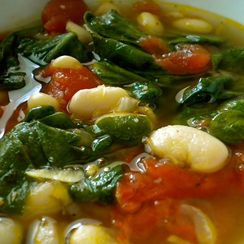 Red, White and Green Soup