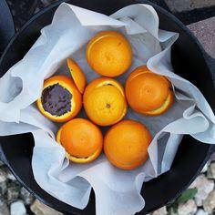Chocolate Orange Campfire Cakes