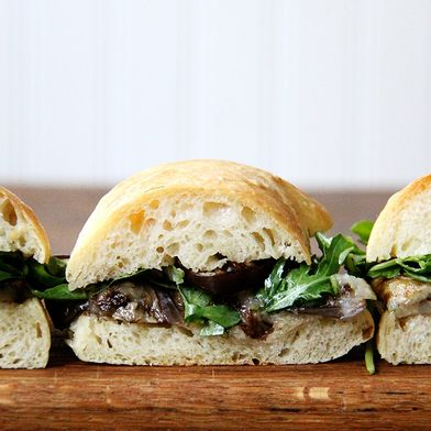 An Unfussy, Unabashedly Simple Eggplant Sandwich to Make Immediately