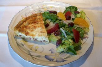 29c7e60c 43f4 4729 93be 6b79f38a2796  pancetta quiche with orange and olive salad