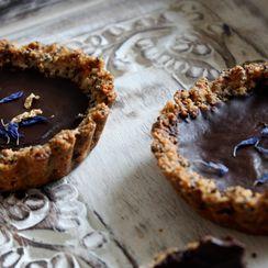 Vegan Chocolate & Rose Tarts