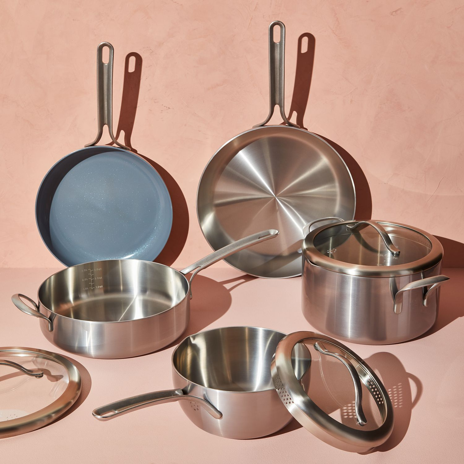 Five Two Essential Cookware Set From Food52 Nonstick Stainless Steel On Food52