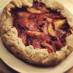 Peach and Maple, Almond Crusted Galette