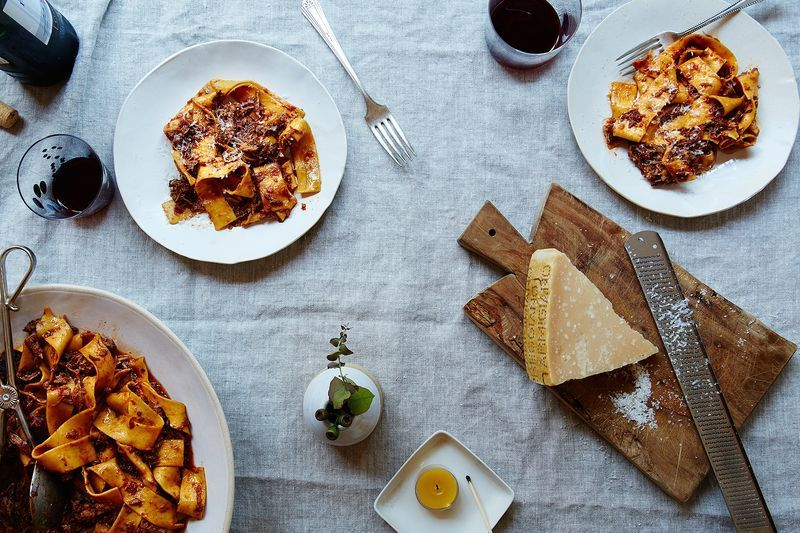 Make slurpable ragu and no one will have to say anything at all.