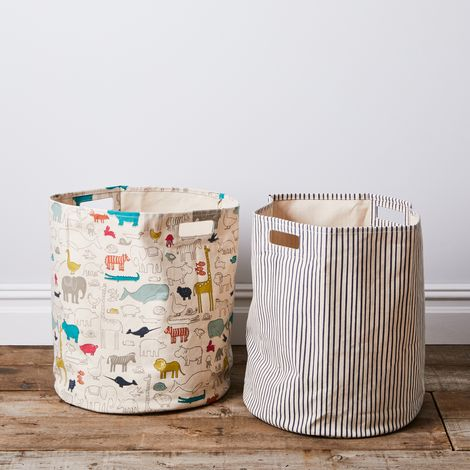 Printed Canvas Hamper
